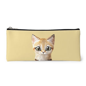 Sandy the Sand cat Leather Pencilcase