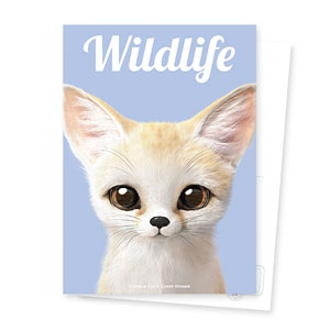 Denny the Fennec fox Magazine Postcard