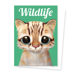Leo the Leopard cat Magazine Postcard