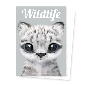 Yungki the Snow Leopard Magazine Postcard