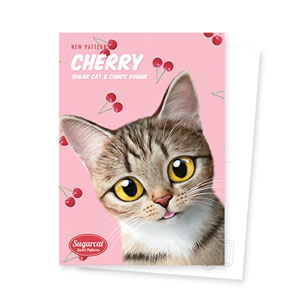 Gisele's Cherry New Patterns Postcard