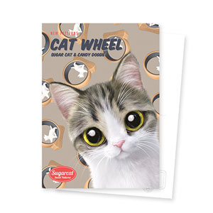 Kung's Cat Wheel New Patterns Postcard