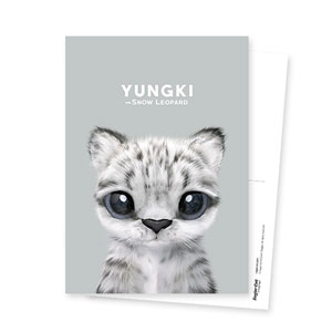 Yungki the Snow Leopard Postcard
