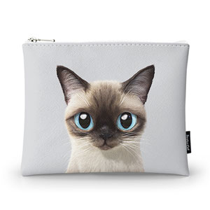 Yoda the Siamese cat Pouch