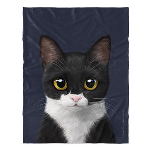 Byeol the Tuxedo Cat Soft Blanket