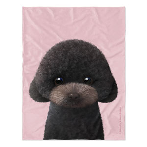 Choco the Black Poodle Soft Blanket