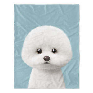 Dongle the Bichon Soft Blanket