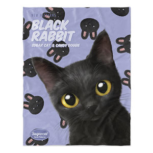 Bingo's Black Rabbit New Patterns Soft Blanket