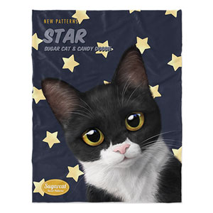 Byeol the Tuxedo Cat's Star New Patterns Soft Blanket