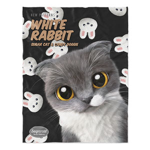 Fran's White Rabbit New Patterns Soft Blanket