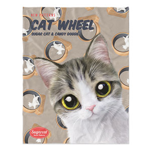 Kung's Cat Wheel New Patterns Soft Blanket