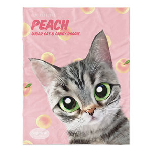 Momo the American shorthair cat's Peach New Patterns Soft Blanket