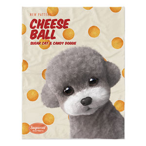 Earlgray the Poodle's Cheese Ball New Patterns Soft Blanket
