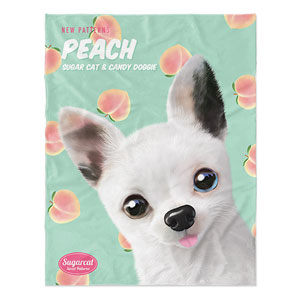 Peaches's Peach New Patterns Soft Blanket