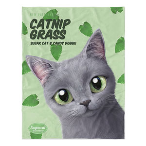 Pinggu's Catnip Grass New Patterns Soft Blanket
