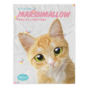 Roy the Cheese Tabby's Marshmallow New Patterns Soft Blanket