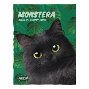 Ruru's Monstera New Patterns Soft Blanket