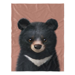 Bandal the Aisan Black Bear Soft Blanket