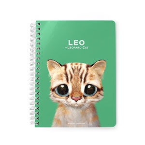 Leo the Leopard cat Spring Note