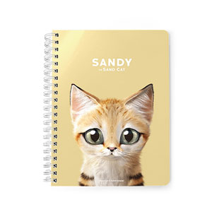 Sandy the Sand cat Spring Note