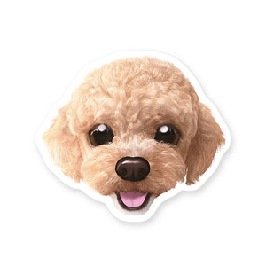 Kkomi the Poodle Face Deco Sticker