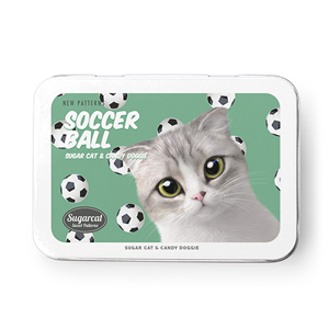 Momo Mumohan's Soccer Ball New Patterns Tin Case MINI