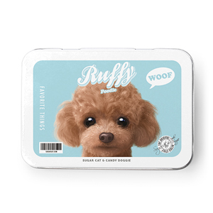 Ruffy the Poodle Retro Tin Case MINI