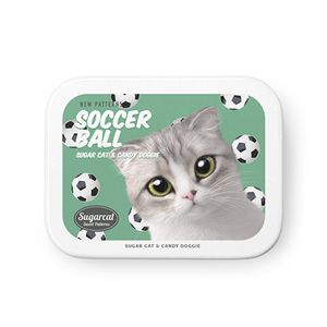 Momo Mumohan's Soccer Ball New Patterns Tin Case MINIMINI