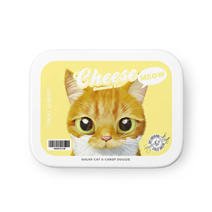 Cheese Retro Tin Case MINIMINI