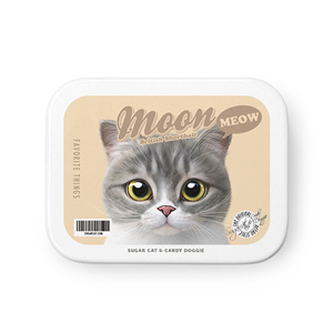 Moon the British Cat Retro Tin Case MINIMINI