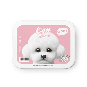 Ogu the Bichon Retro Tin Case MINIMINI