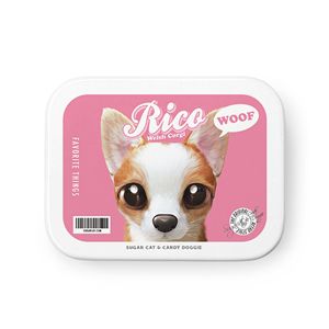 Rico the Welsh Corgi Retro Tin Case MINIMINI