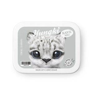 Yungki the Snow Leopard Retro Tin Case MINIMINI