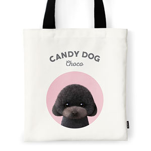 Choco the Black Poodle Ivory Tote Bag