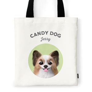 Jerry the Papillon Ivory Tote Bag