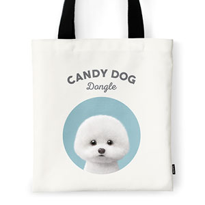 Dongle the Bichon Ivory Tote Bag