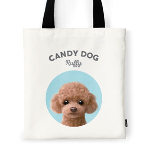 Ruffy the Poodle Ivory Tote Bag