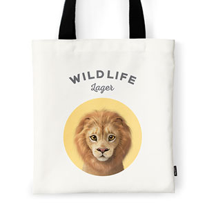 Lager the Lion Ivory Tote Bag