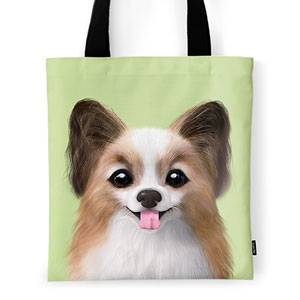 Jerry the Papillon Tote Bag