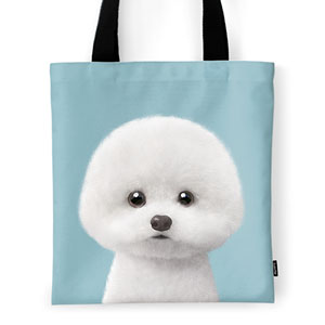Dongle the Bichon Tote Bag