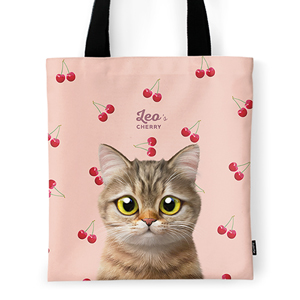 Leo the British Shorthair's Cherry Tote Bag