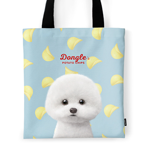 Dongle the Bichon's Potato Chips Tote Bag