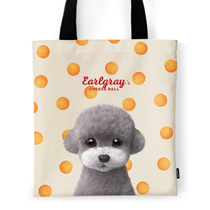 Earlgray the Poodle's Cheese Ball Tote Bag