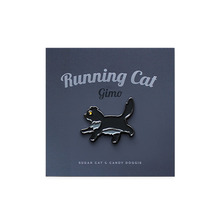 Running Cat Gimo Metal Badge