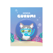 Scuba Gurumi Character Pin Button