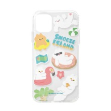 [Snooze Kittens] Snooze Island Blue Clear Jelly Case