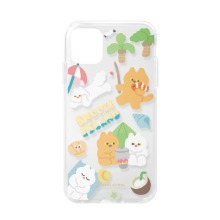 [Snooze Kittens] Snooze Island Sand Yellow Clear Jelly Case