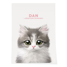 Dan the Kitten Art Poster