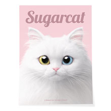 Cloud the Persian Cat Magazine Art Poster