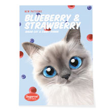 Momo's Blueberry & Strawberry New Patterns Art Poster